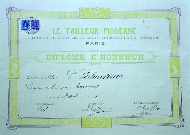 """""""Le tailleur moderne"""" Paris - Diplome d'honneur 1921"""
