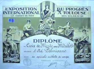 """Exposition international"" Paris - Diplome de Croix de Mérite 1922"